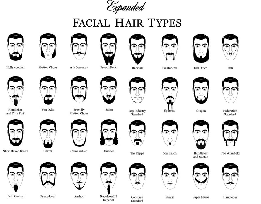 Of handlebar mustaches types 10 Mustache