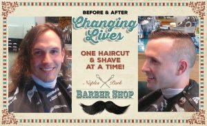 Barber Shop before & after