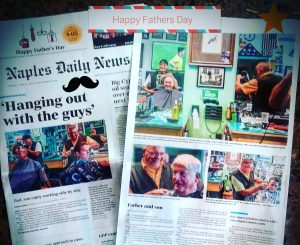 Naples Park Barber Shop featured in Naples Daily News for Father's Day
